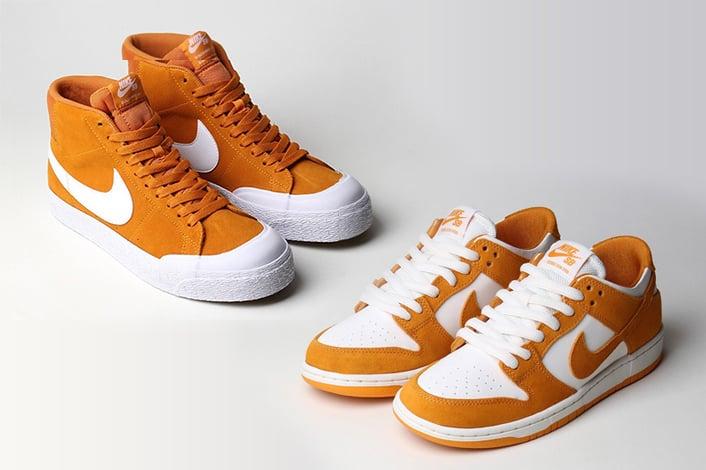 new arrival cf46d 00a1e Nike SB Blazer Mid Circuit Orange Nike SB Dunk Low