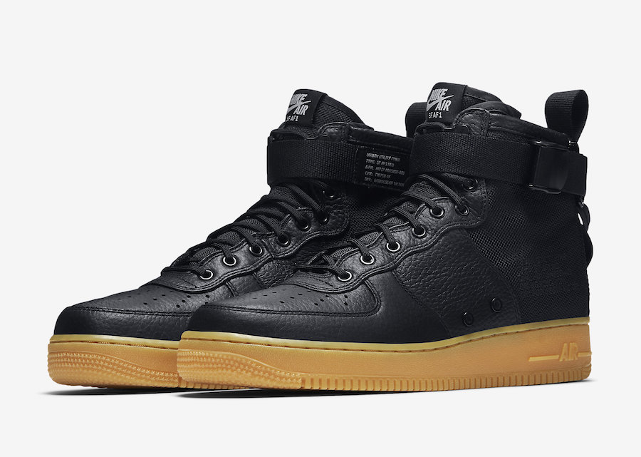 sports shoes 64dd0 3d649 Nike SF-AF1 Mid Black Gum 917753-003 Release Date | SneakerFiles