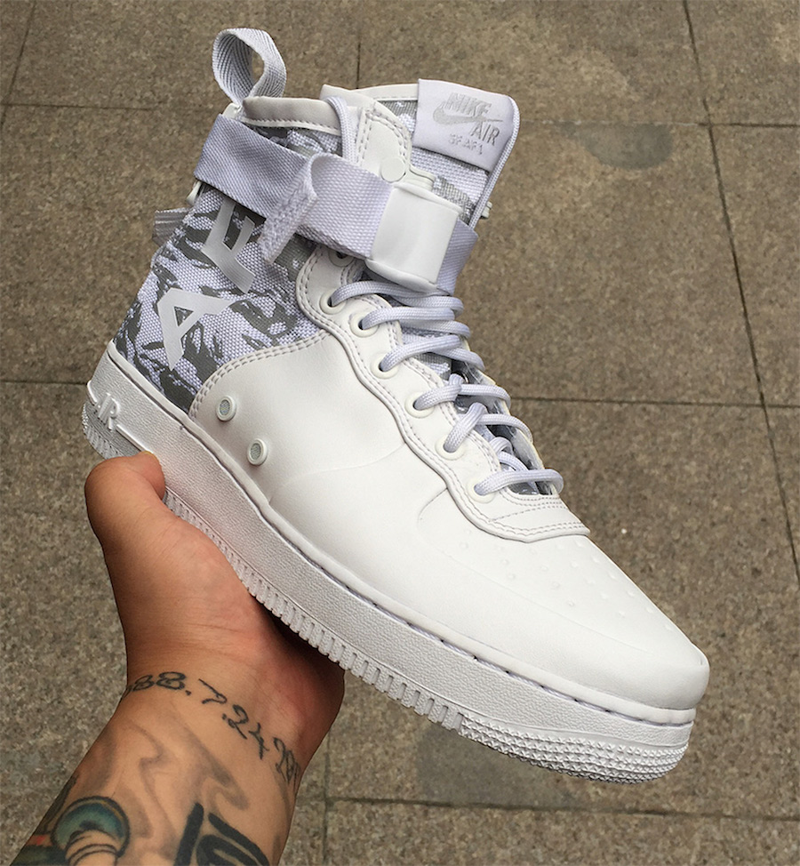 online store 147cb 56cde Nike SF-AF1 Mid White Tiger Camo | SneakerFiles