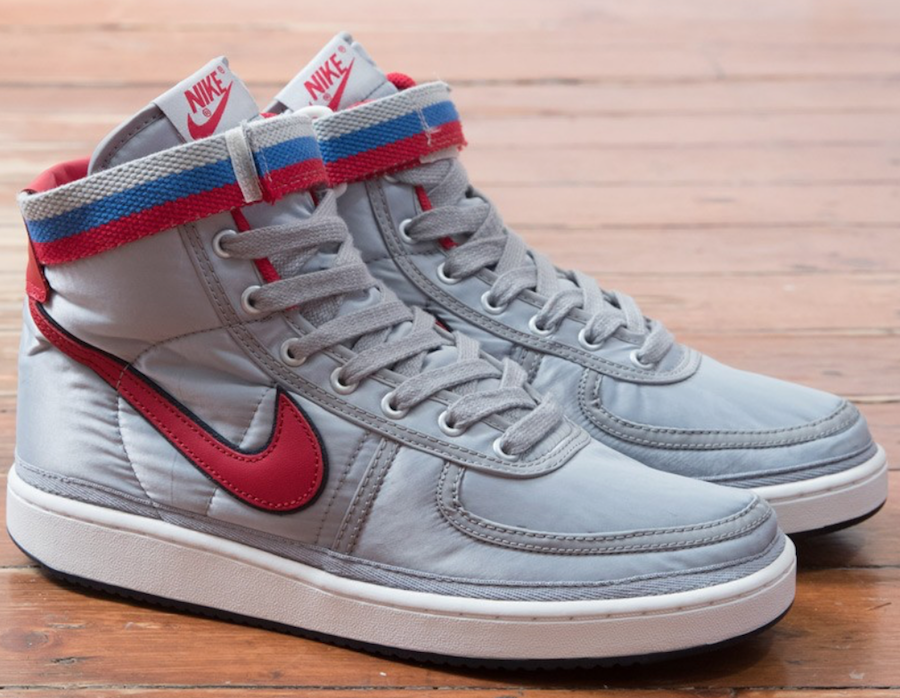 Nike Vandal High OG Metallic Silver University Red