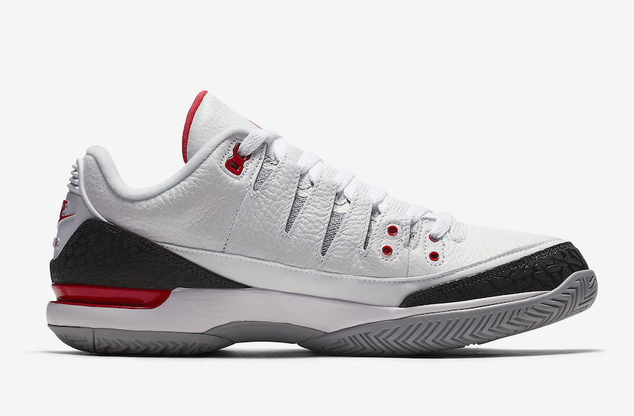 44e9d3efbed67 Nike Zoom Vapor Tour Aj3 Fire Red Light Green Jordan Shoes ...