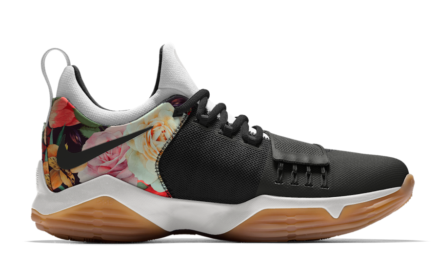 nike id with floral swoosh