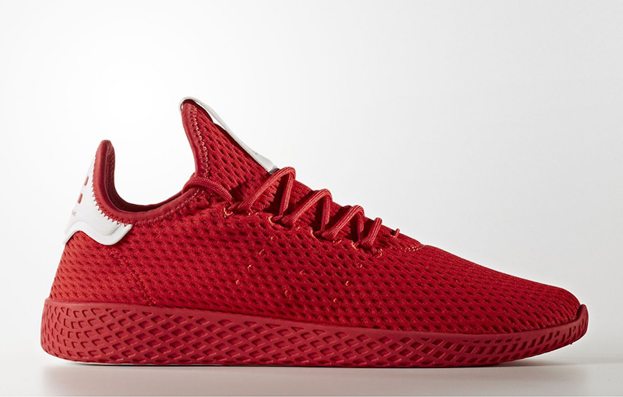 Pharrell adidas Tennis Hu Scarlet Red BY8720