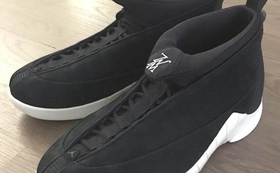PSNY Air Jordan 15 Black Suede