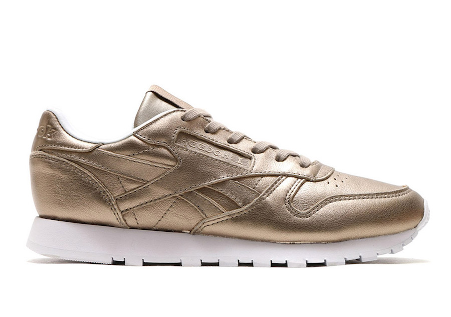 Reebok Classic Leather Metallic Gold Grey Gold BS7898