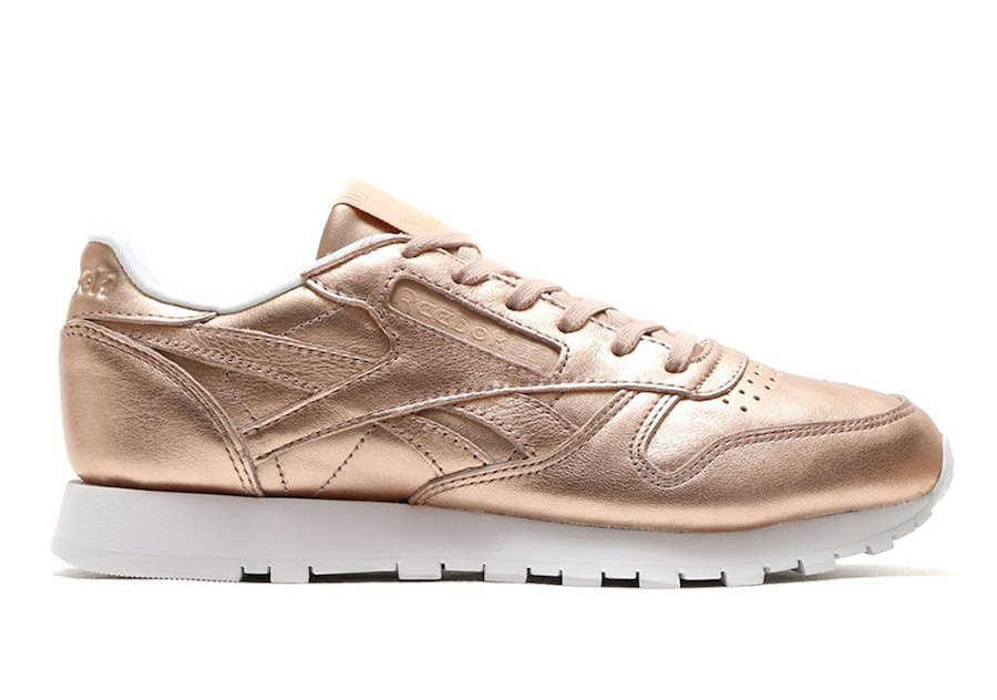 Reebok Classic Leather Metallic Gold Peach BS7897
