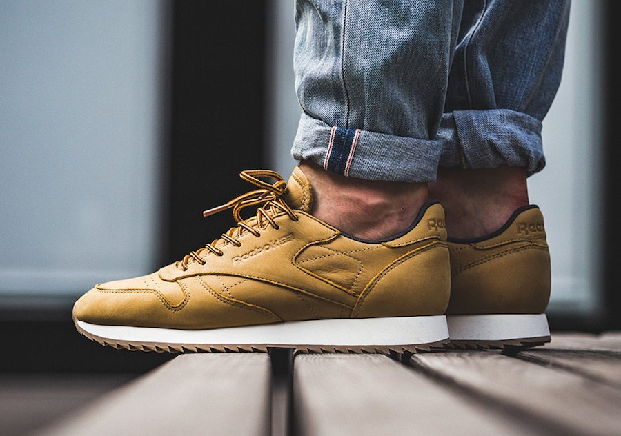 Reebok Classic Leather Ripple Wheat  ca86c1a59