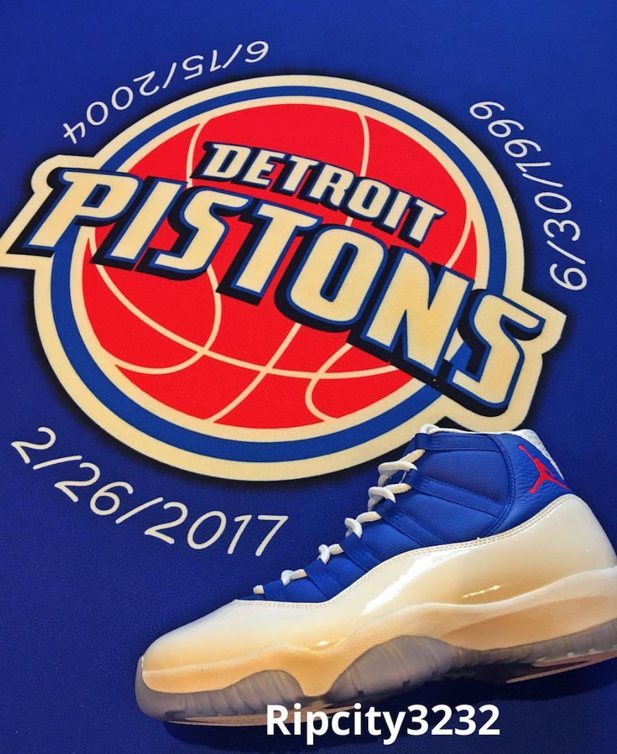 Rip Hamilton Air Jordan 11 Detroit Pistons PE