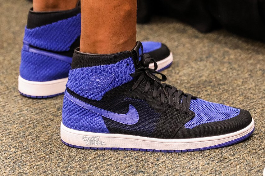 Royal Flykit Air Jordan 1 Westbrook On Foot