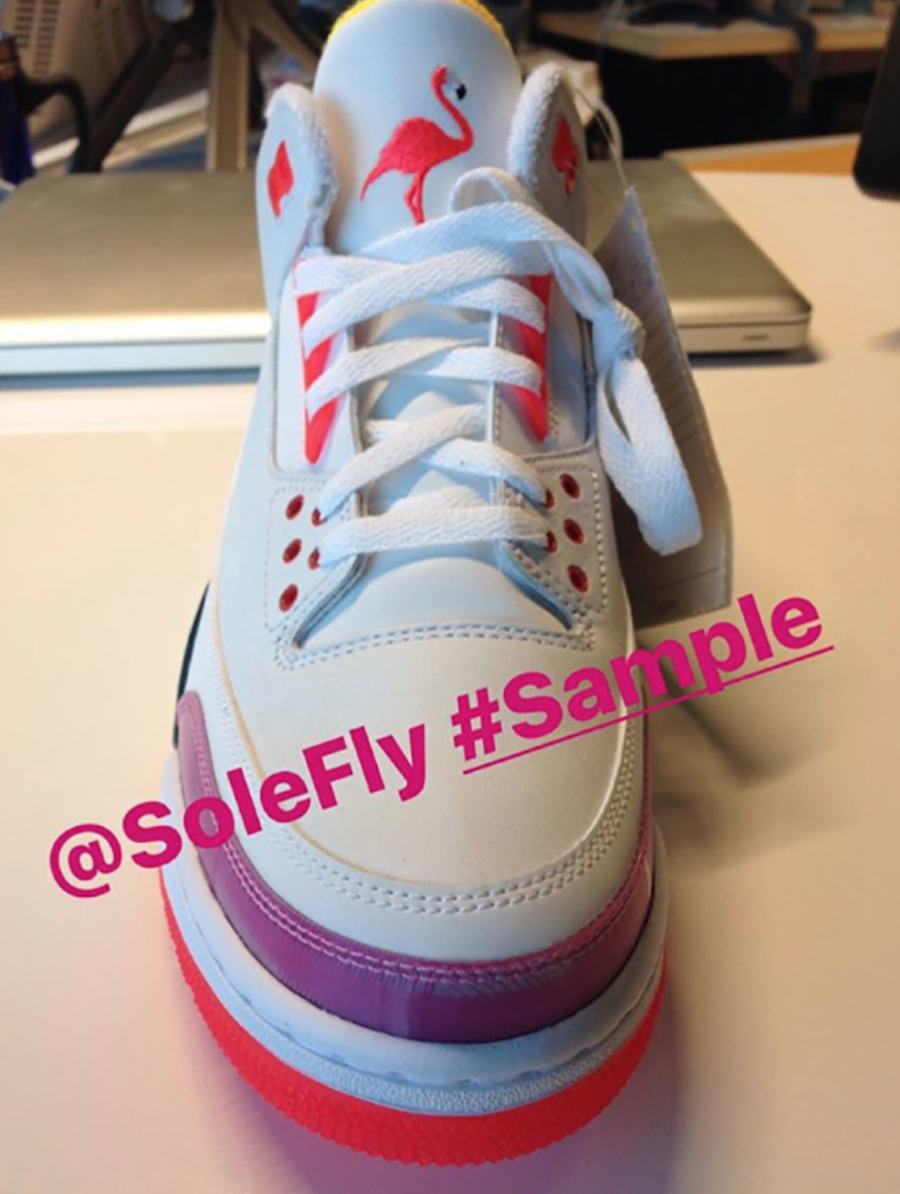 SoleFly Air Jordan 3 Lotto Golf Shoes Samples