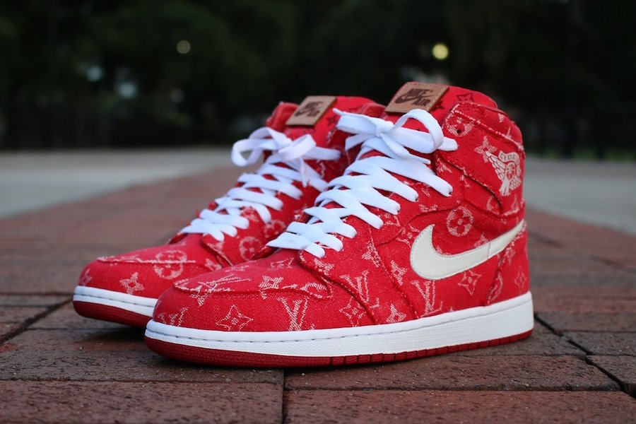 Supreme Louis Vuitton Air Jordan 1 Custom