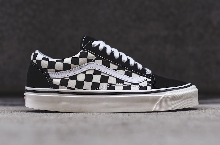 Vans Old Skool 36 DX Black Checkerboard  3e46e0c6f