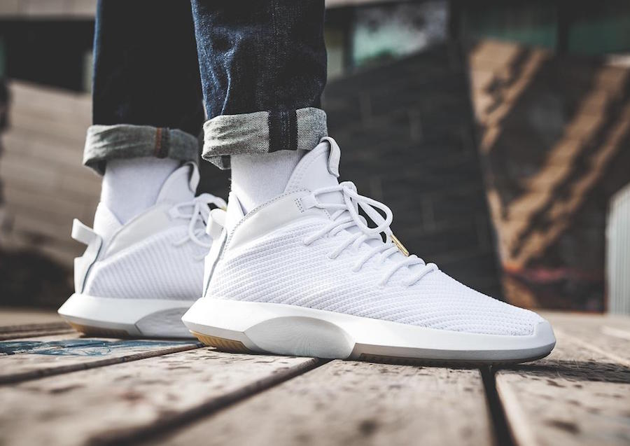 wholesale dealer b8c9d e28ed adidas Crazy 1 ADV Primeknit White