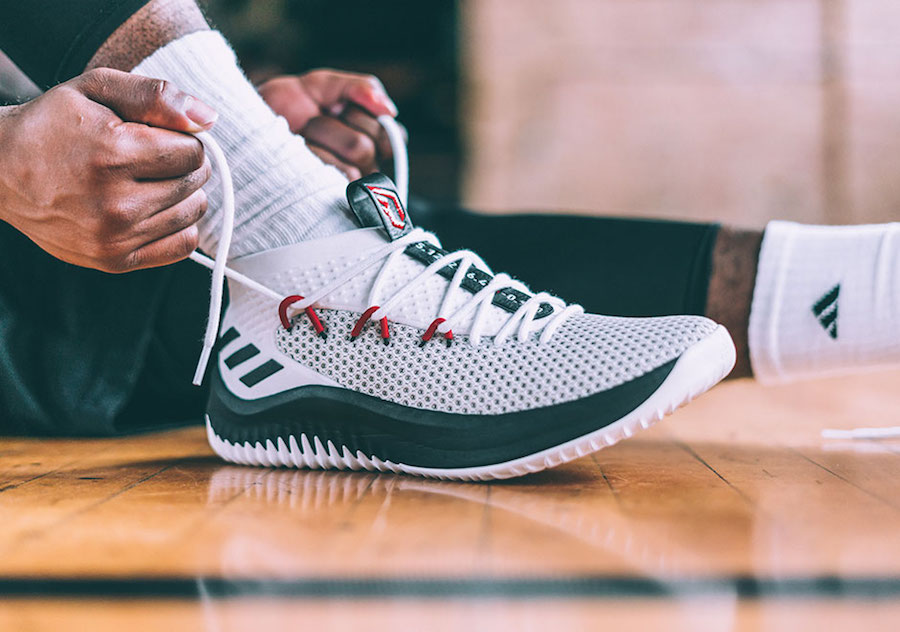adidas dame 4 red gum