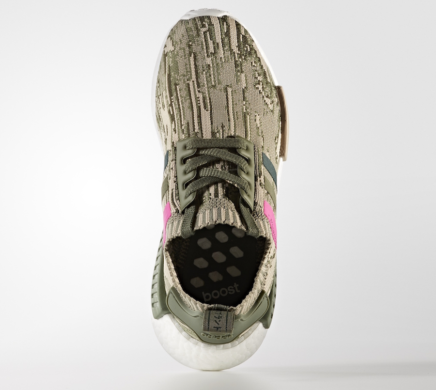 adidas NMD R1 Primeknit Camouflage Beige Pink | SneakerFiles