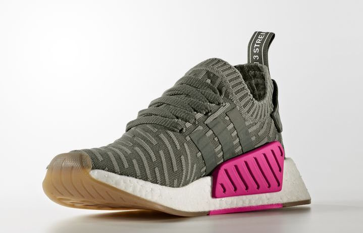 adidas NMD R2 Primeknit Olive Pink BY9953