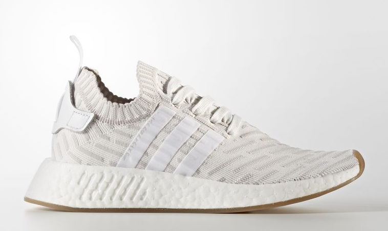 7a94d667a adidas NMD R2 Primeknit White Pink BY9954