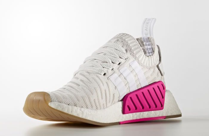 adidas NMD R2 Primeknit White Pink BY9954