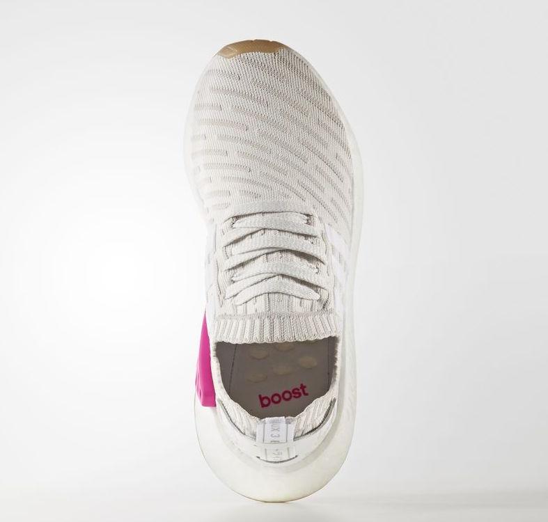 adidas NMD R2 Primeknit White Pink BY9954 eeeebf1e11