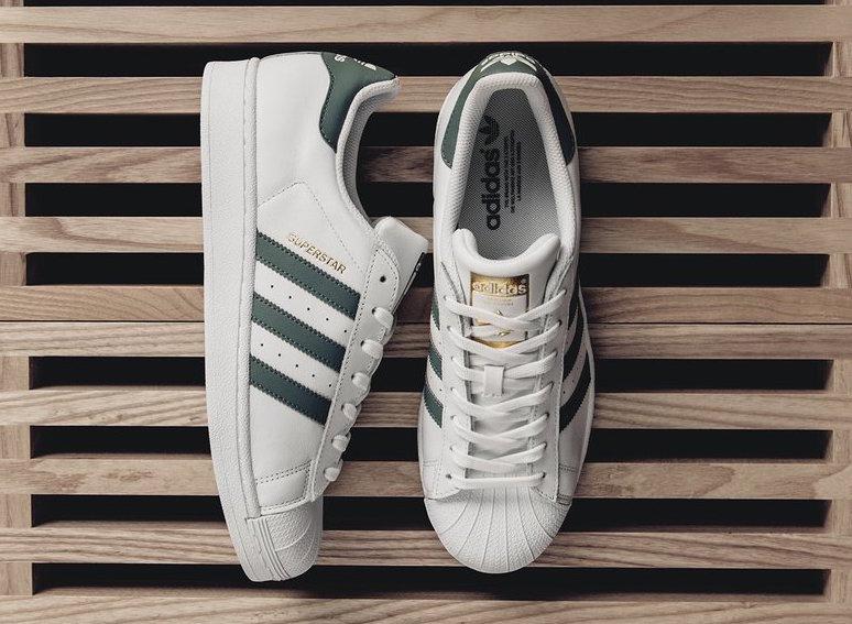 adidas Superstar Linen Khaki Green