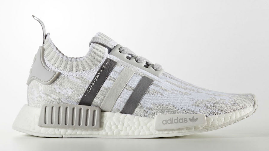 adidas Womens NMD R1 Primeknit Triple Grey BY98645