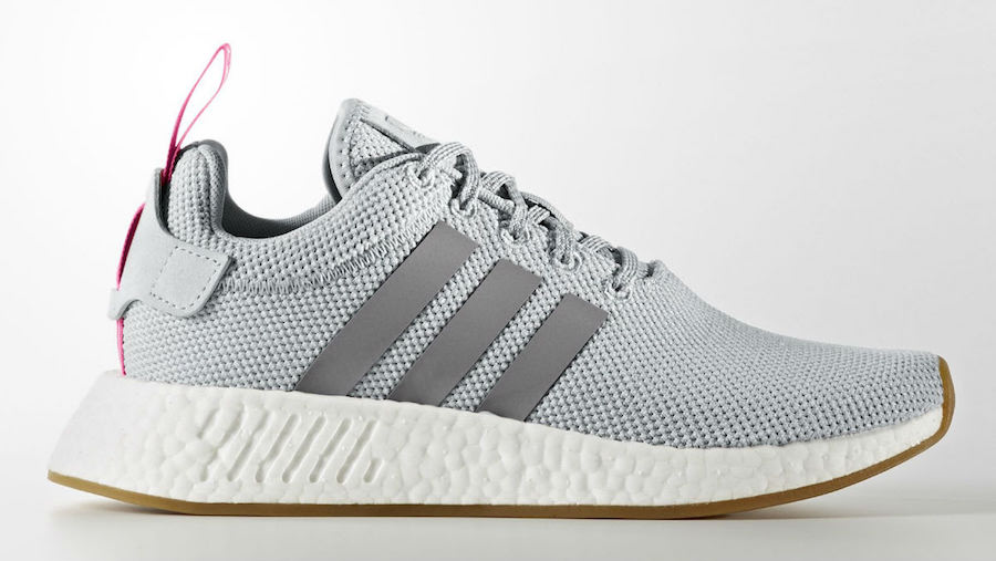 adidas Womens NMD R2 Grey Shock Pink BY9317