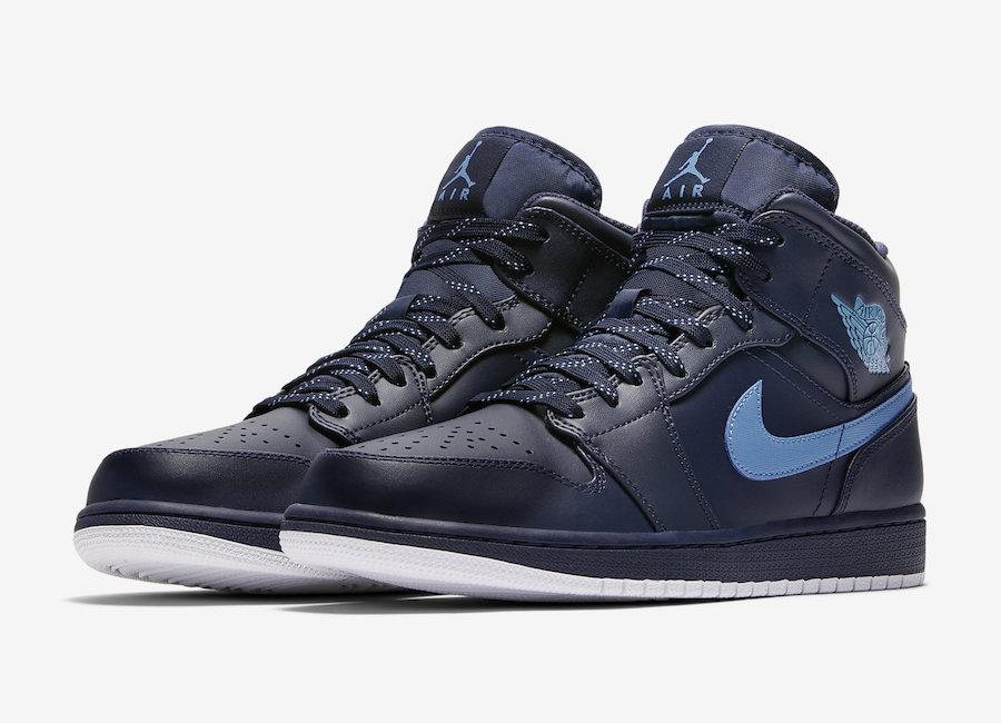 Air Jordan 1 Mid Obsidian 554724 405 Release Date Sneakerfiles