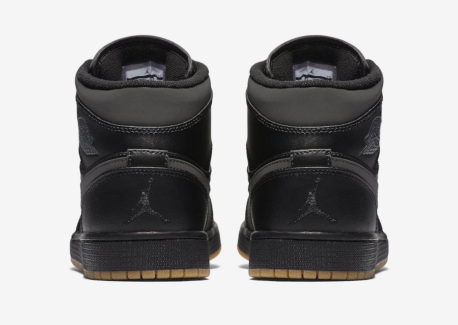 Air Jordan En Mid Vinterisert Sort Gummi Gjennomgang GouZX