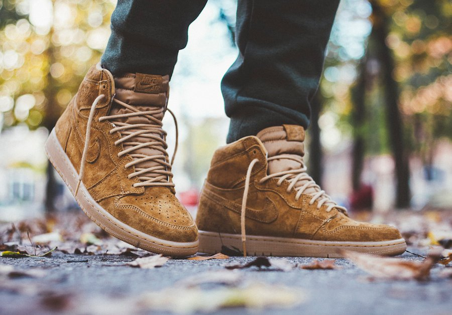 Air Jordan 1 Wheat On Feet