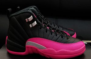 Air Jordan 12 Black Deadly Pink