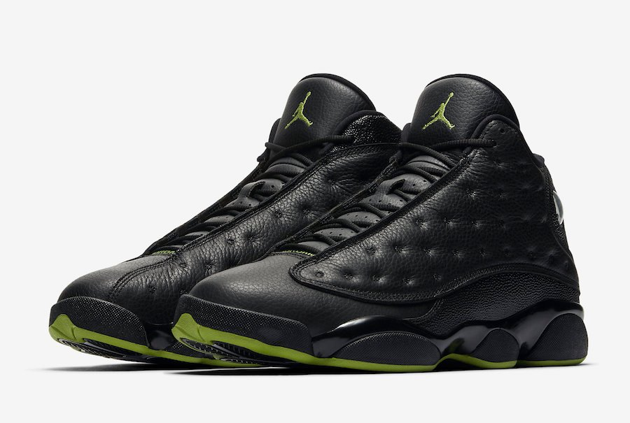 Air Jordan 13 Altitude Black And Altitude Green Online