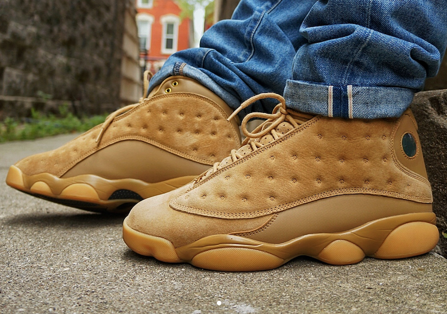 Air Jordan 13 Wheat On Feet