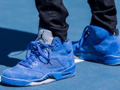 Air Jordan 5 Blue Suede 136027-401