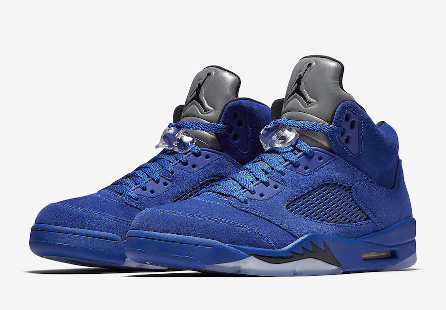 Air Jordan 5 Blue Suede Adult