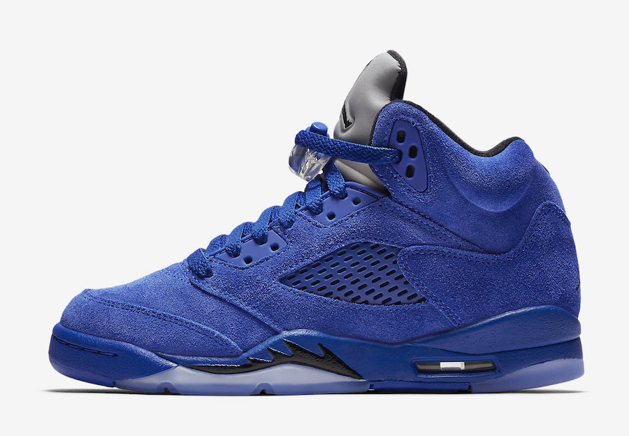 Air Jordan 5 Blue Suede Gradeschool