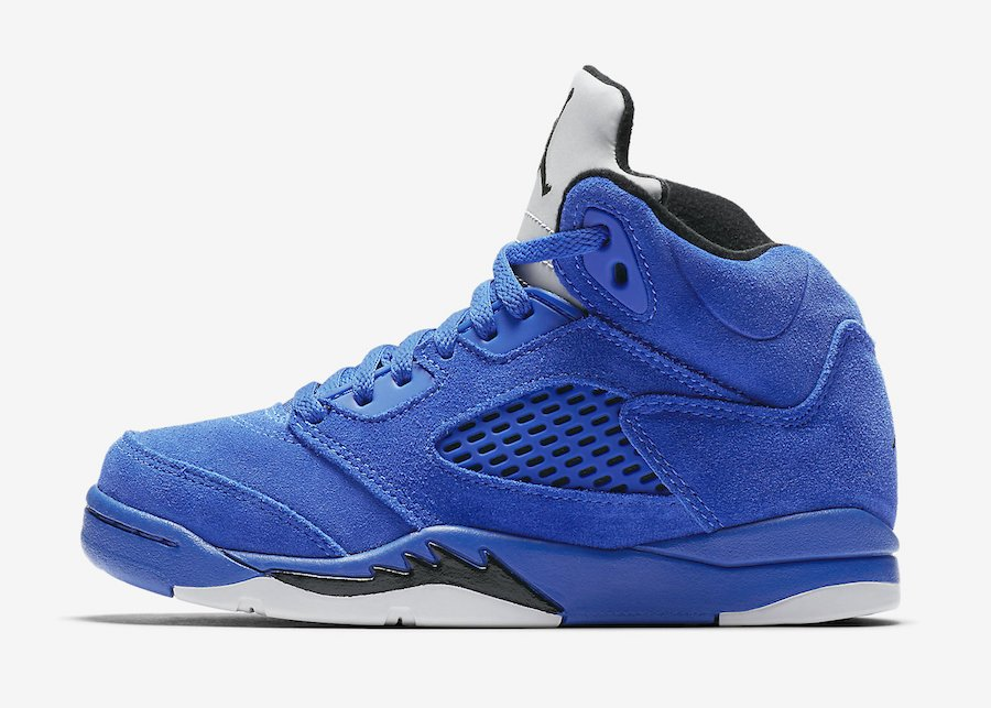 Air Jordan 5 Blue Suede Preschool