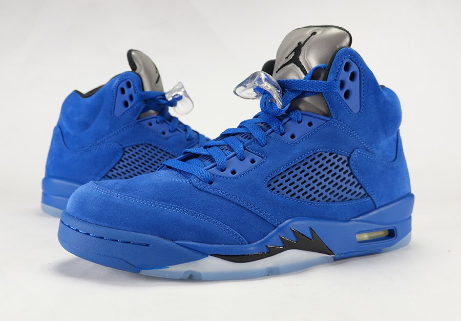 Air Jordan 5 Blue Suede Review On Feet