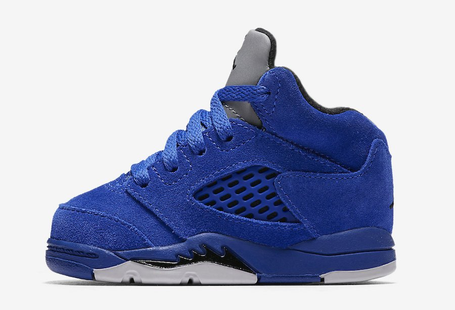Air Jordan 5 Blue Suede Toddler
