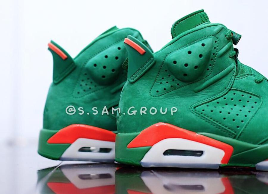 31ee4da1949735 Air Jordan 6 Gatorade Green Suede Release Date