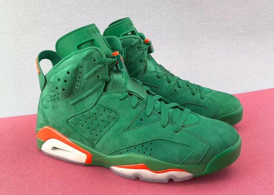 Air Jordan 6 Gatorade Green Suede Release Date