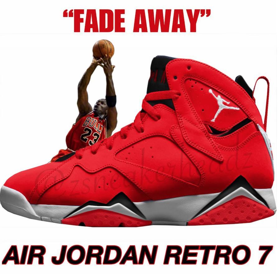 Air Jordan 7 Fadeaway University Red