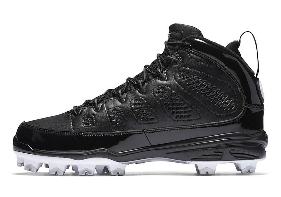 Air Jordan 9 MCS Cleat Black