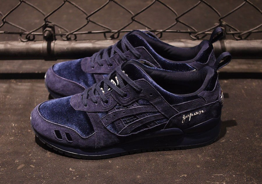 BEAMS mita Asics Gel Lyte III Souvenir Jacket Navy