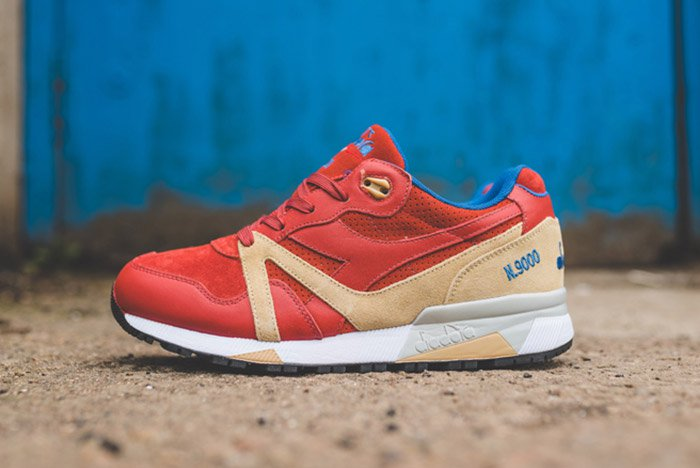 Diadora N9000 Red Brick V7000 Dutch Blue