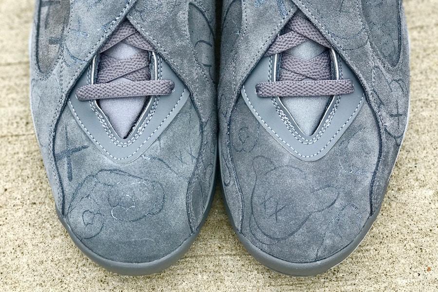 KAWS Air Jordan 8 Cool Grey Custom