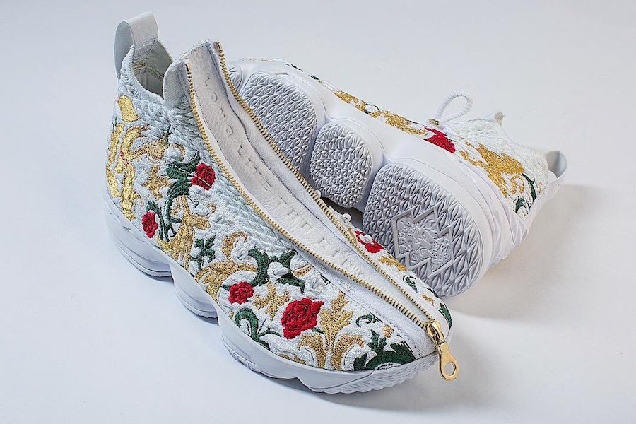 finest selection 1ace7 4c2a5 Nike LeBron 15 Floral Embroidery | SneakerFiles