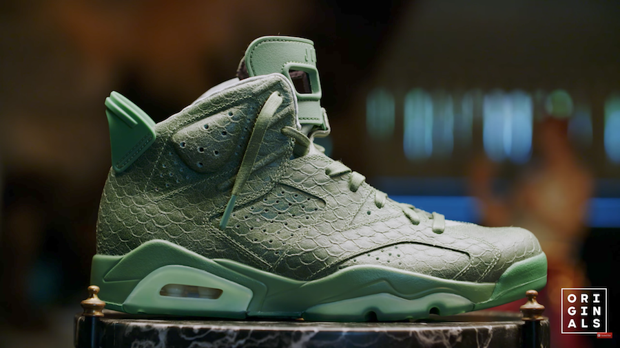 Macklemore Air Jordan 6 Green Snakeskin