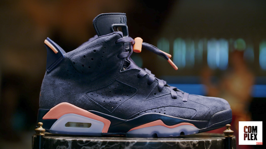 Macklemore Air Jordan 6 Navy Salmon Pink