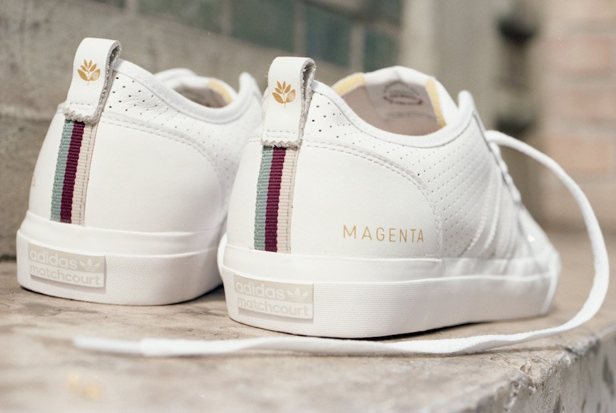 Magenta Skateboards x adidas Matchcourt Collection