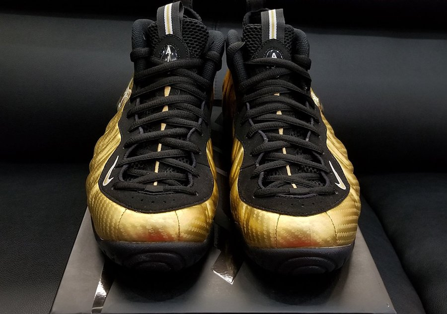Metallic Gold Nike Foamposite Pro